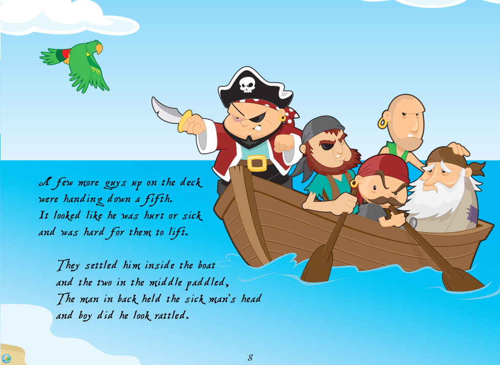 A band of friendly pirates meet a hero to save the day.
